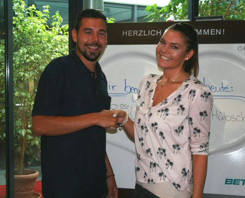neuer Auszubildender Pierre Hübsch
